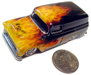 KB Kustoms Award Winning FireSkull 55 Chevy Panel truck