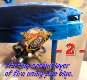 Blue Blazess fire STEP 2