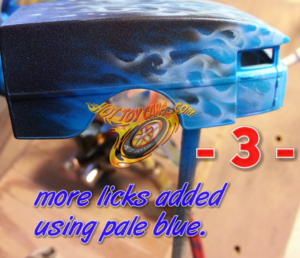 Blue Blazes Fire process for 1/64th scale.  Step 3