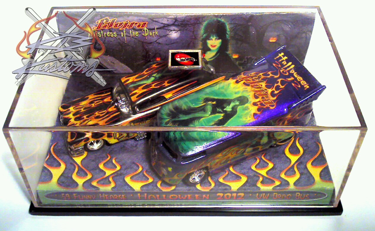 One of Five 2 car sets from 2012..ELVIRA Halloween Edition! KB Kustoms