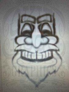 Santa Tiki concept sketch by Okie Logo